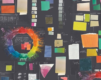 Color Theory: Color Therapy Charcoal - By Carrie Bloomston - 1/2 Yard +
