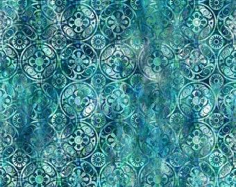 Medallions: Blue - Floragraphix V - by Jason Yenter for In The Beginning Fabrics   - 1/2 Yard