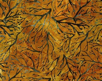 Nature's Canvas - Gold - Artisan Batiks Robert Kaufman - Sold by the half yard - Shipped as continuous yardage