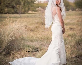 1920s Style Glam Strapless Mermaid Wedding Dress - Vintage Wedding Dress - Extra Small - Small