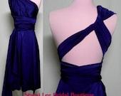 Navy Blue Bridesmaids Wrap/Twist Dress...68 Colors ... Bridesmaids, Wedding, Holiday, Beach, Vacation, Honeymoon