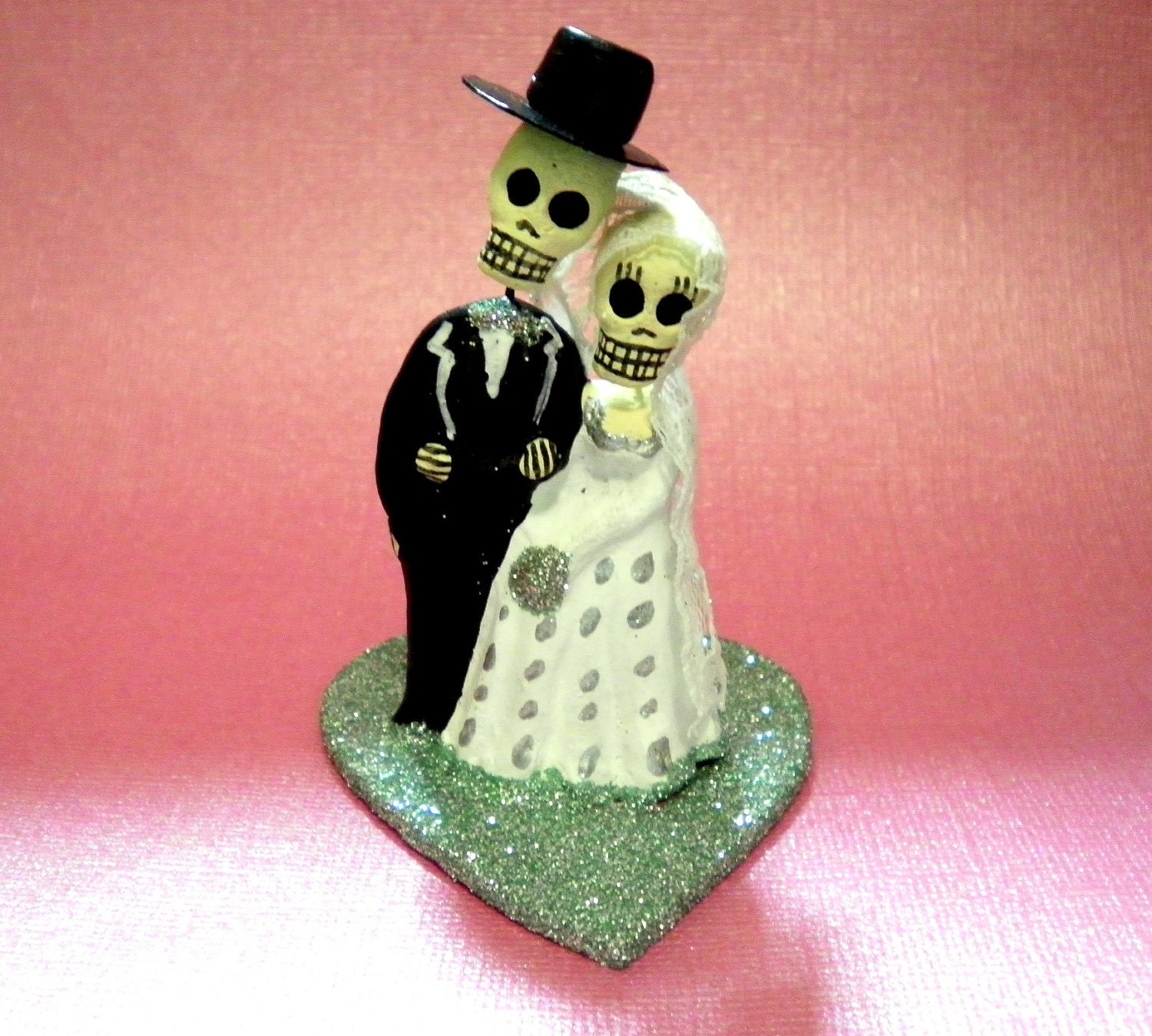 Aqua Blue Day of the Dead Cake Topper Wedding Cupcake Topper | Etsy