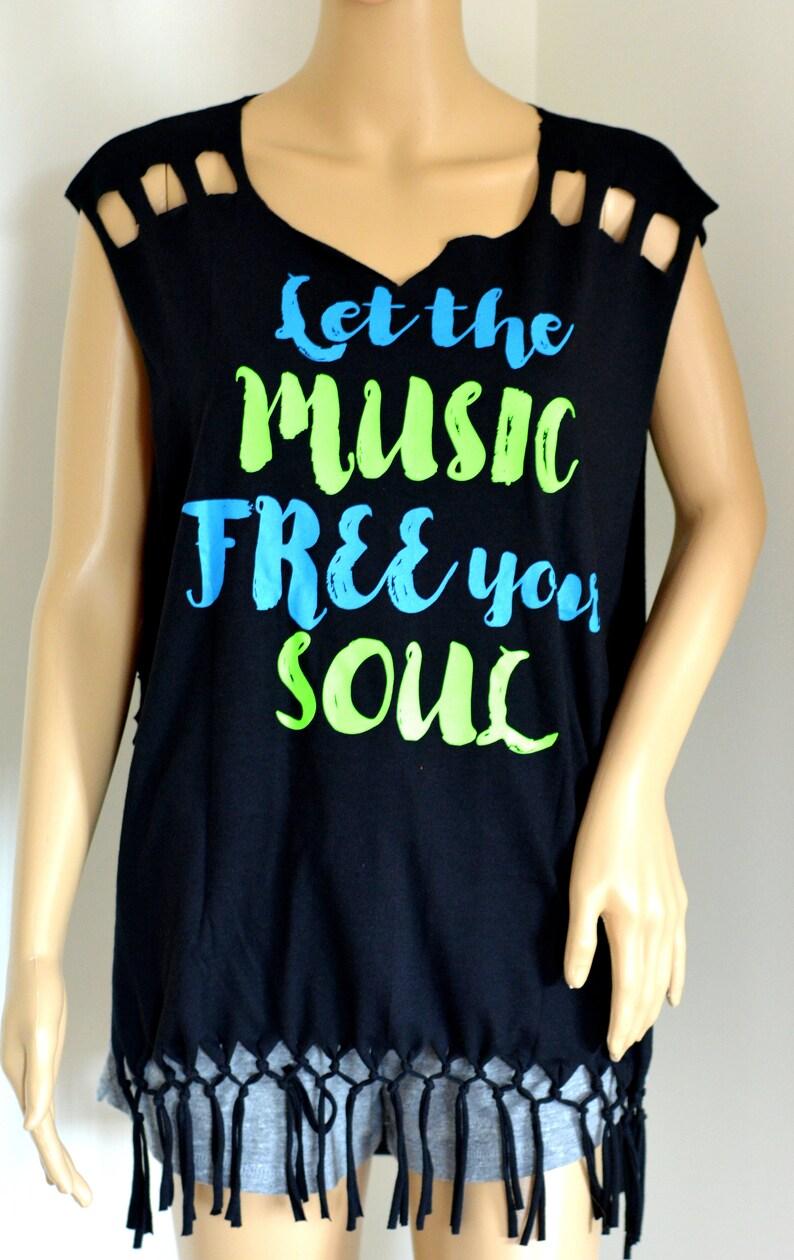 f0963939 Artistically cut up workout T shirt heart cut shirt | Etsy