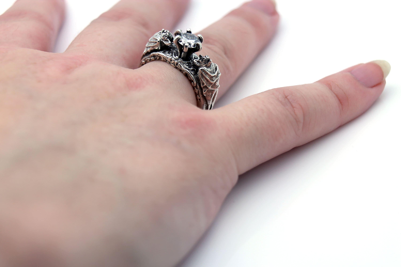 Bat Ring Bat Jewelry Silver Bat Ring Gothic Jewelry Gothic | Etsy
