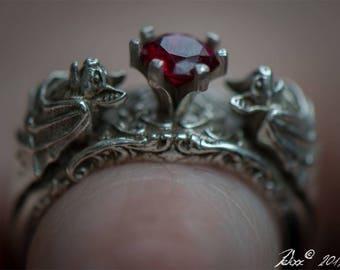 Goth wedding ring Etsy