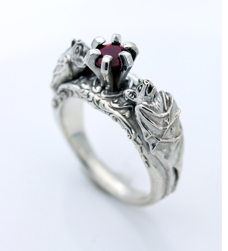 Bat Ring Bat Jewelry Silver Bat Ring Gothic Jewelry Gothic image 0