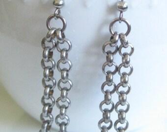 Vintage Dangling Chain Earrings
