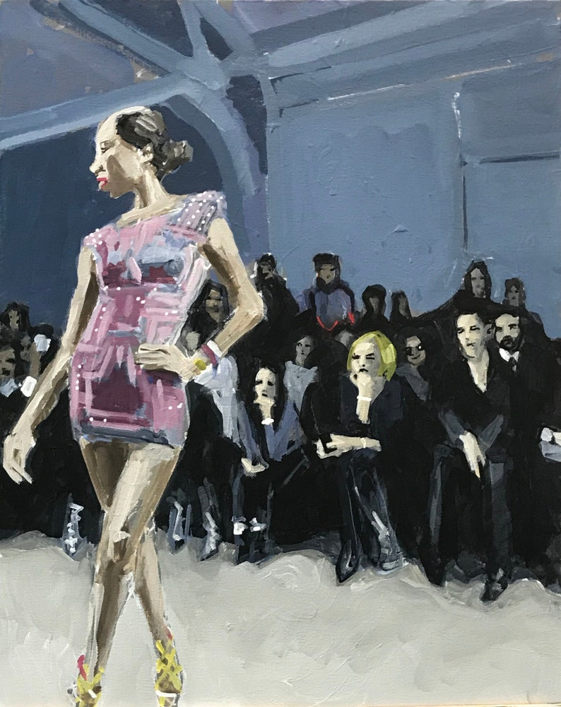 Fashion Show Painting . Suite: Fashion Show 5/7 . 20x16 in. image 0