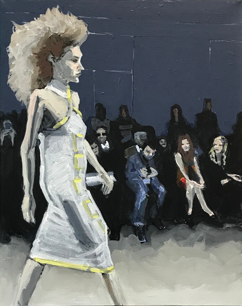Fashion Show Painting . Suite: Fashion Show 1/7 . 20x16 in. image 0