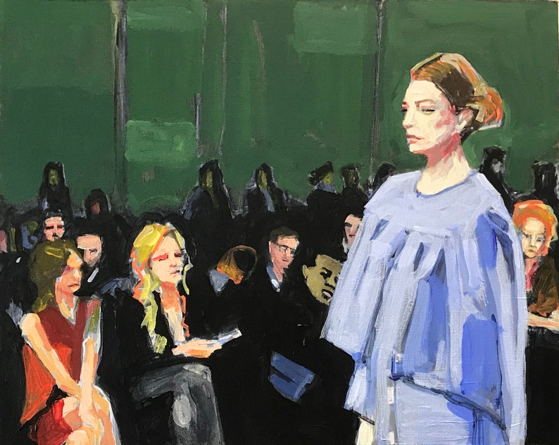 Fashion Show Painting . Suite: Fashion Show 7/7 . 16x20 in. image 0