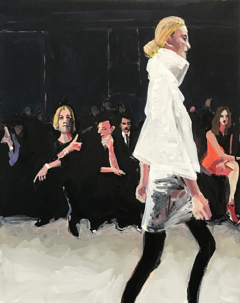 Fashion Show Painting . Suite: Fashion Show 2/7 . 20x16 in. image 0