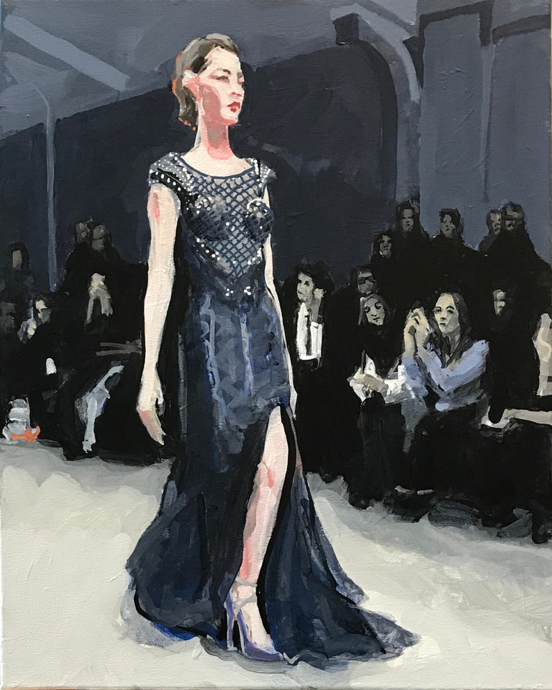 Fashion Show Painting . Suite: Fashion Show 4/7 . 20x16 in. image 0