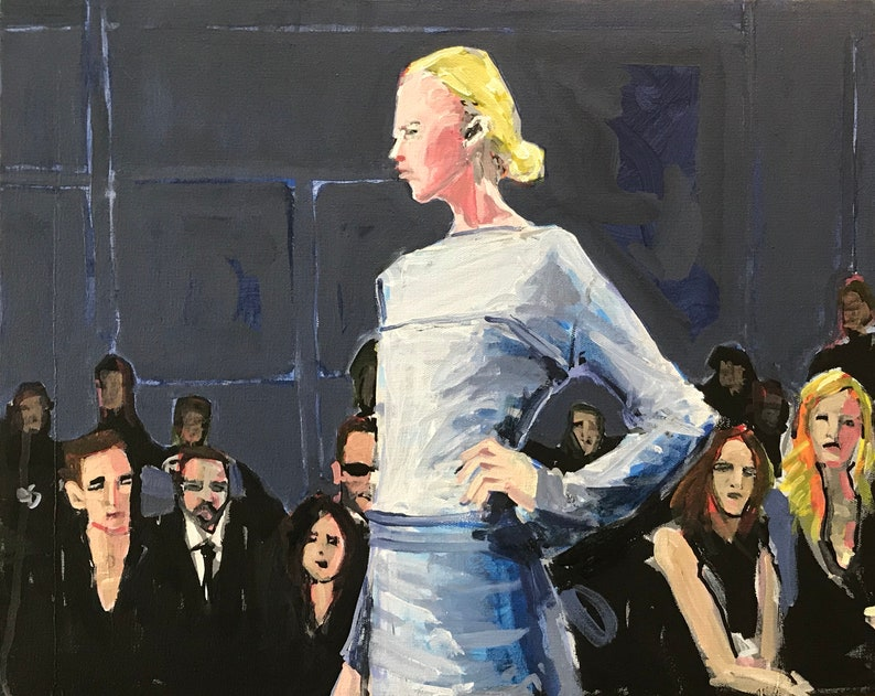 Fashion Show Painting . Suite: Fashion Show 6/7 . 16x20 in. image 0