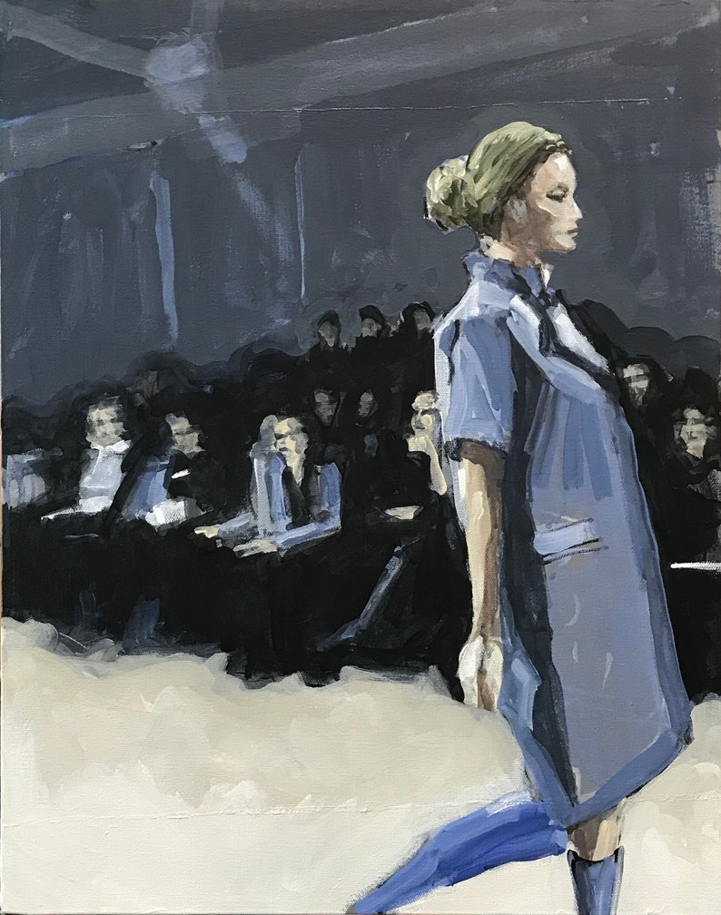 Fashion Show Painting . Suite: Fashion Show 3/7 . 20x16 in. image 0