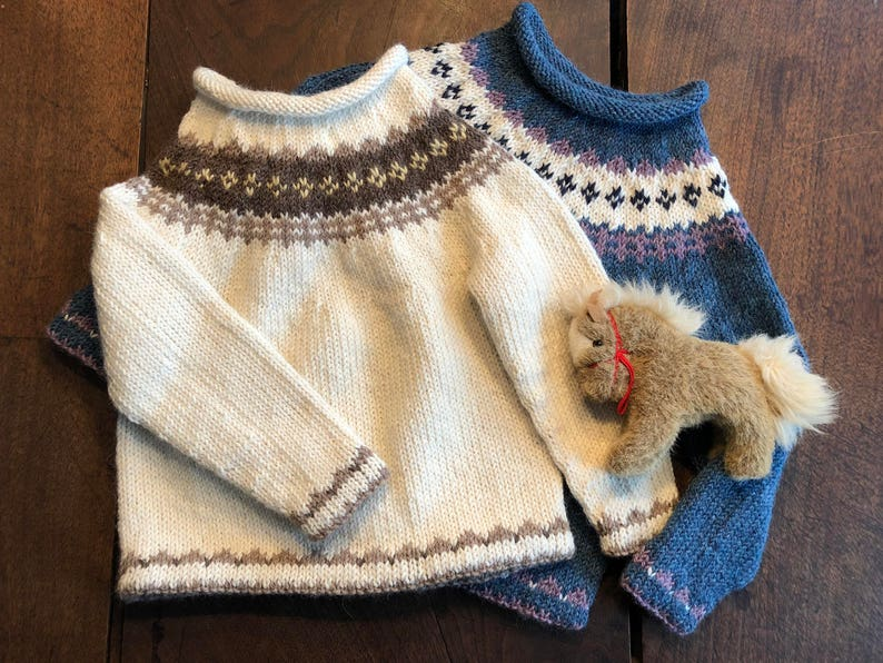 Baby toddler boy girl pullover sweater knitting pattern image 0