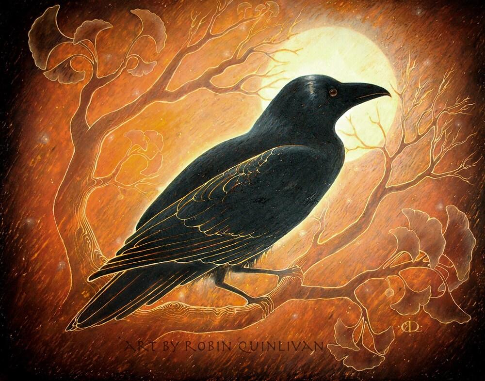 черный ворон картинки рисунки прославился