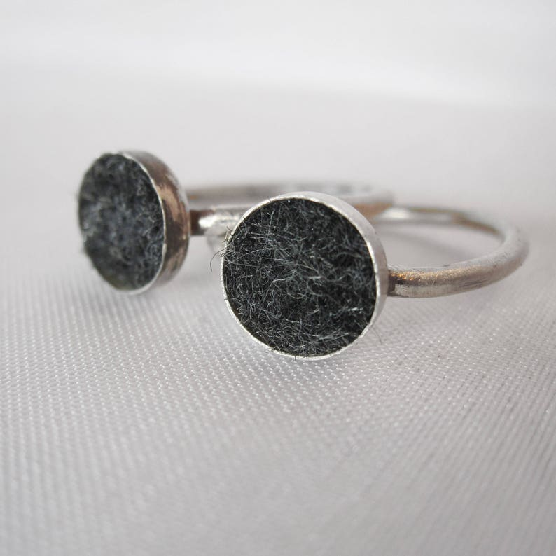 Small Size Sterling Silver Aromatherapy Diffuser Rings  image 0