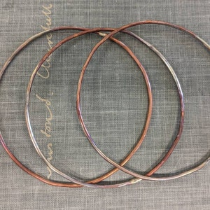 Copper cuff bracelet blanks wire wrapping etching enameling riveting unfinished bracelet base for flame painting 34 inch x 6 inch