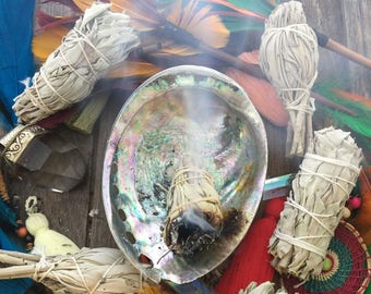 "Sage Bundles for Smudging, Meditation, Clearing and Protection - Natural White Sage Smudge Sticks, 3"" bundles / 1 piece"