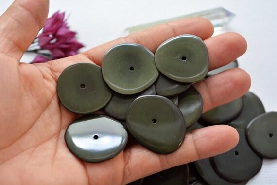 Dut beads Tagua rings aqua 15 mm 5 piece running hole ring beads aquamarine beads 15 mm beads wide rings wide rings wide rings