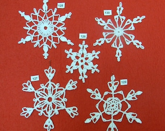 PDF Pattern for 5 Crocheted Snowflakes - set 26