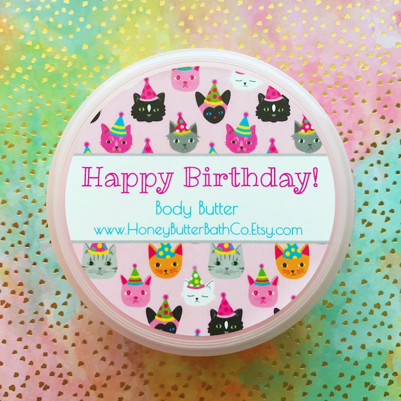 Birthday Body Butter Lotion Cake Happy
