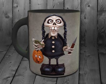 Wednesday Skelly Mug