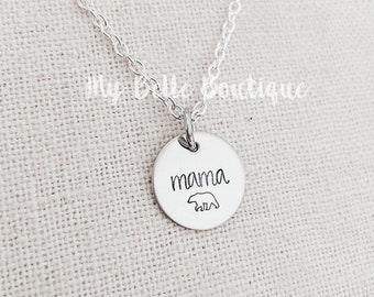 Personalized Hand Stamped Necklace with Silver Tone Key and Heart Charms