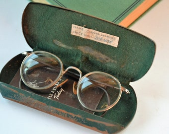 fc2776a332d Rare Vintage Bausch + Lomb Ful-Vue 23 Safety Glasses - 1940s B L Motorcycle  Glasses