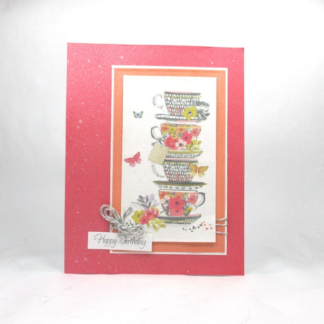 Birthday Card For Women Birthday Card For Her Tea Cup Cards Etsy
