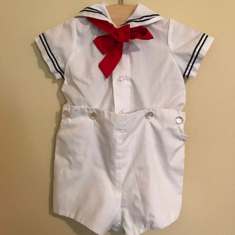 ac15ce4abf8 White Sailor Suit for Baby Boy 2 Piece Baby Sailor Outfit