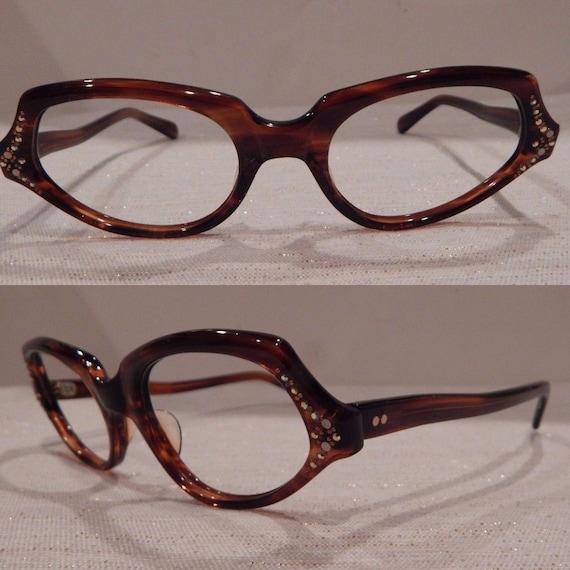 66e96eb02a1 Vintage Eyeglasses Vintage Brown Glasses Torti Frames
