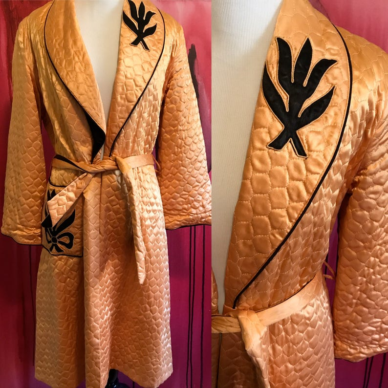 757e860d5e Vintage Robe I Love Lucy Robe 1940s or 1950s House Coat in