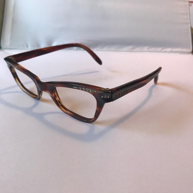 072d146c2e6 Rhinestone Vintage Glasses Ladies Vintage Eye Glasses in
