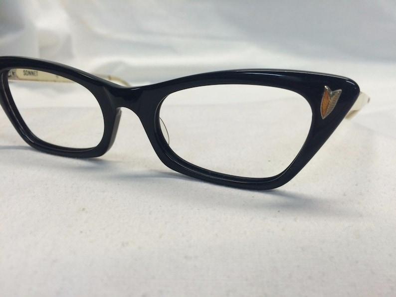 36facae021b7 Black Cateye Glasses Vintage 1950s Eyeglasses by Bausch and