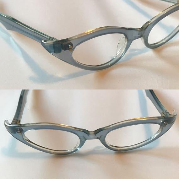712074bc416 Powder Blue Eyeglasses Vintage 1960s Blue Eyeglass Frames