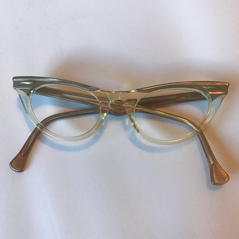 1e314389759 Vintage 1960s American Optical Cat Eye Glasses New Old Stock