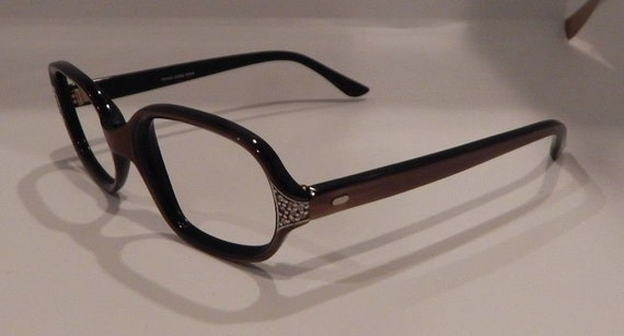 276fa56f4a Vintage Coronet Optical Missy Decor Brown Silk 48 19 Jeweled