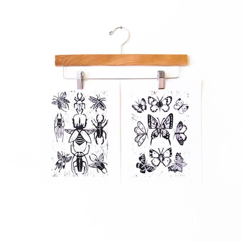 Butterflies Block Print