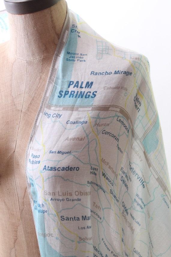 KATE SPADE scarf wrap shawl west coast map Palm S… - image 7