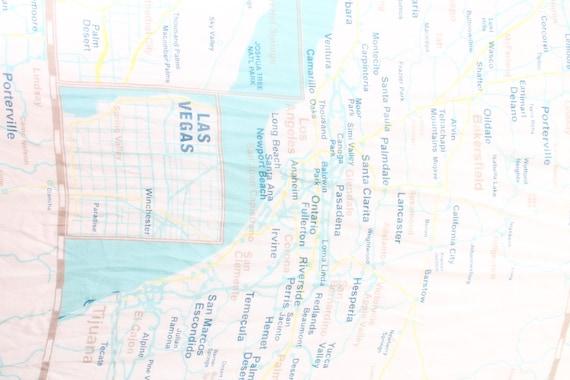 KATE SPADE scarf wrap shawl west coast map Palm S… - image 10