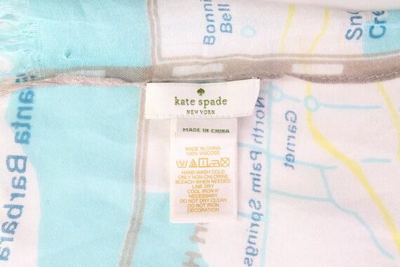 KATE SPADE scarf wrap shawl west coast map Palm S… - image 9