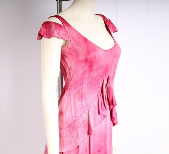 antique 1920s dress pink silk flapper vintage 193… - image 3
