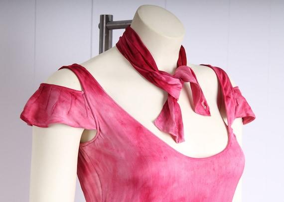 antique 1920s dress pink silk flapper vintage 193… - image 2