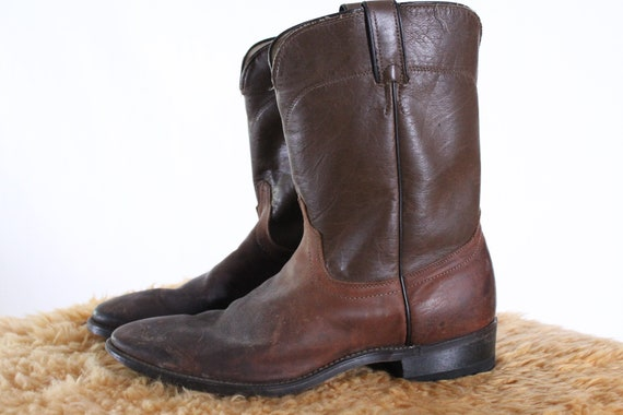 vintage Laredo brown leather work boots western fa