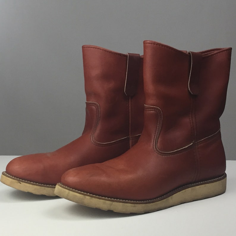 20debf3366591 Vintage engineer Red Wing Irish Setter Boots Size 11.5D