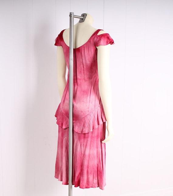 antique 1920s dress pink silk flapper vintage 193… - image 5