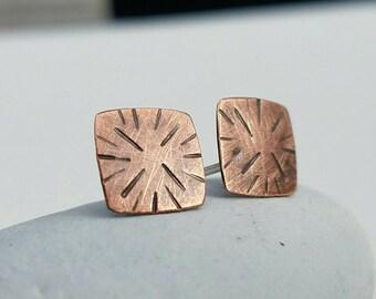Square Copper Post