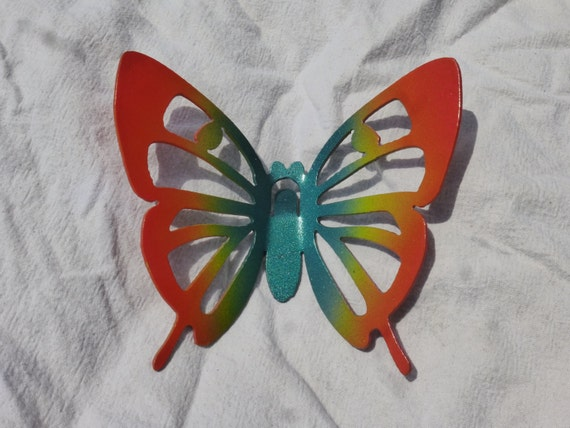 Colorful Neon Butterfly Garden Stake | Etsy