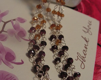Cascade - Earrings with tourmaline and sapphires, little baroque pearls, aquamarine